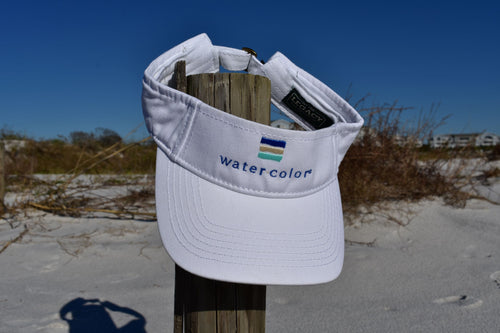 WC White Twill Visor