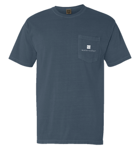 Ice Blue Unisex  Pocket Tee