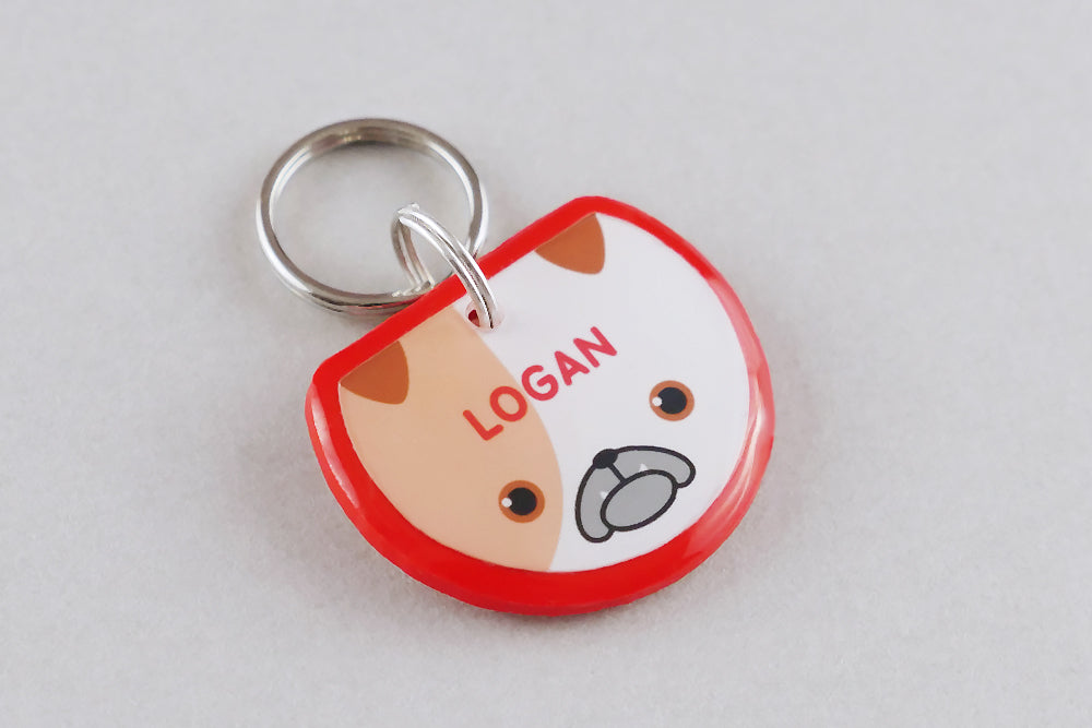 Bulldog Dog ID Tag - Pixsqueaks