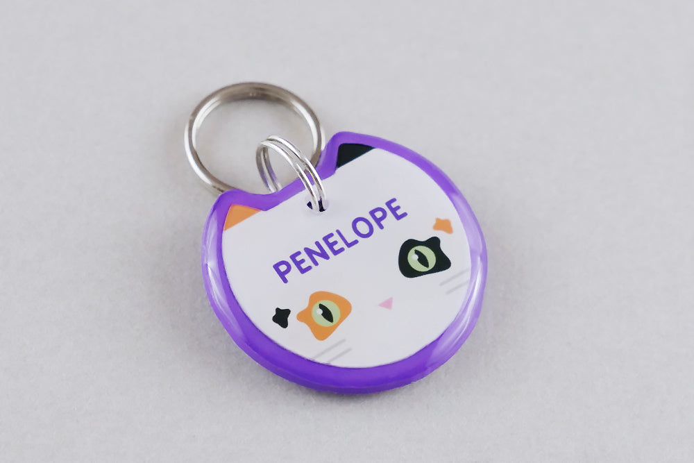 Calico Cat ID Tag - Pixsqueaks
