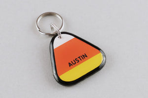 Candy Corn Pet ID Tag - Pixsqueaks