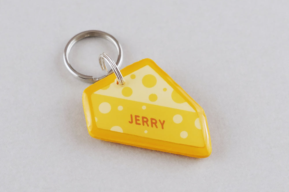 Cheese Pet ID Tag - Pixsqueaks