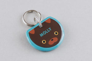 Chocolate Lab Dog ID Tag - Pixsqueaks
