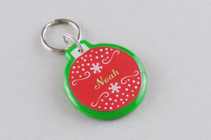 Christmas Ornament Pet ID Tag - Pixsqueaks