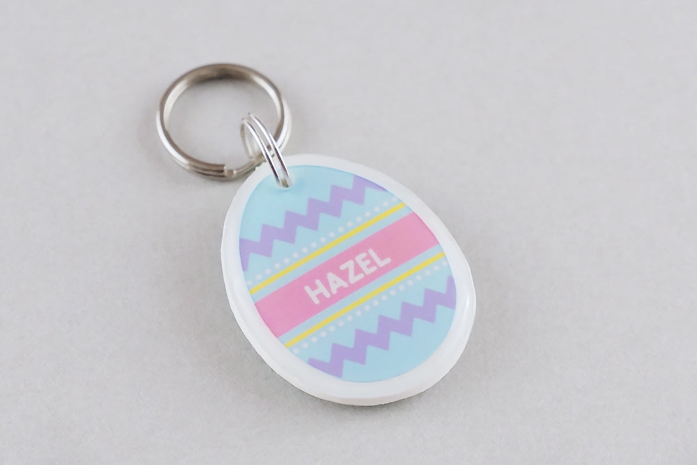 Easter Egg Pet ID Tag - Pixsqueaks