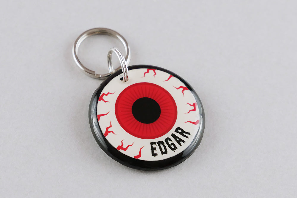 Eyeball Pet ID Tag - Pixsqueaks