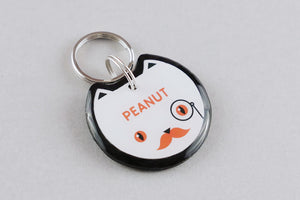 Fancy Cat ID Tag - Pixsqueaks