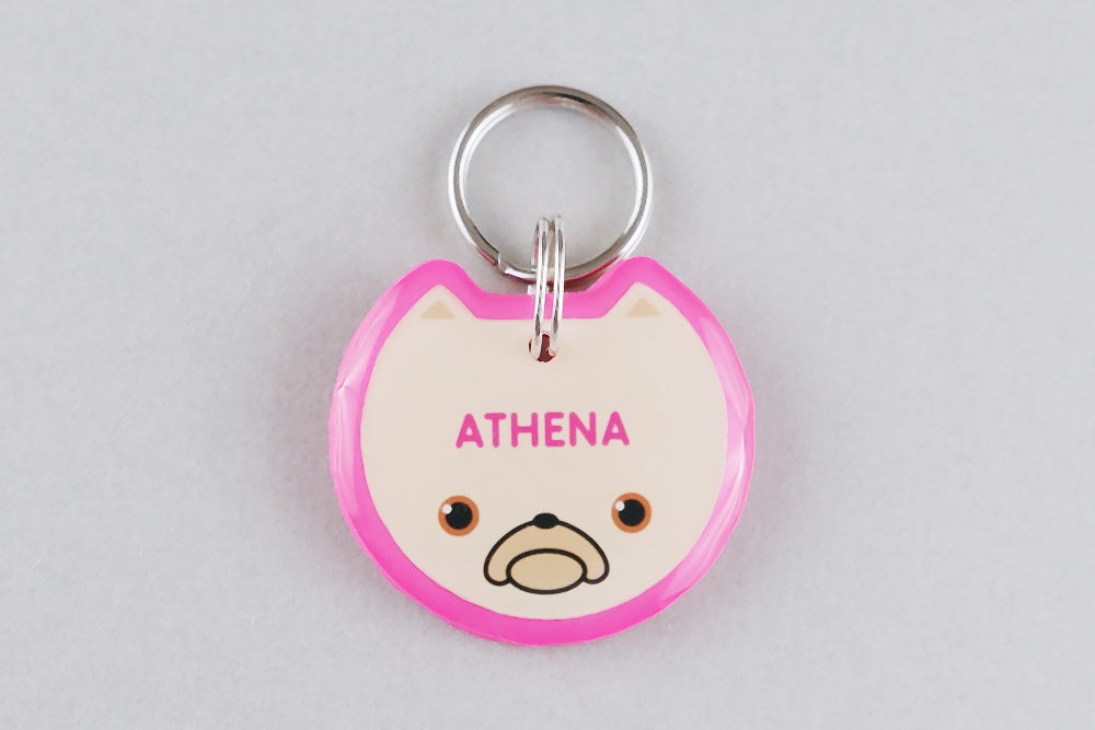 Frenchie Dog ID Tag - Pixsqueaks