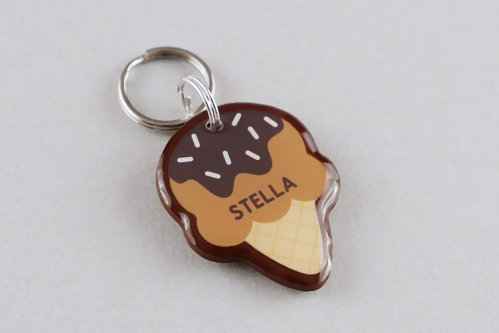 Ice Cream Pet ID Tag - Pixsqueaks