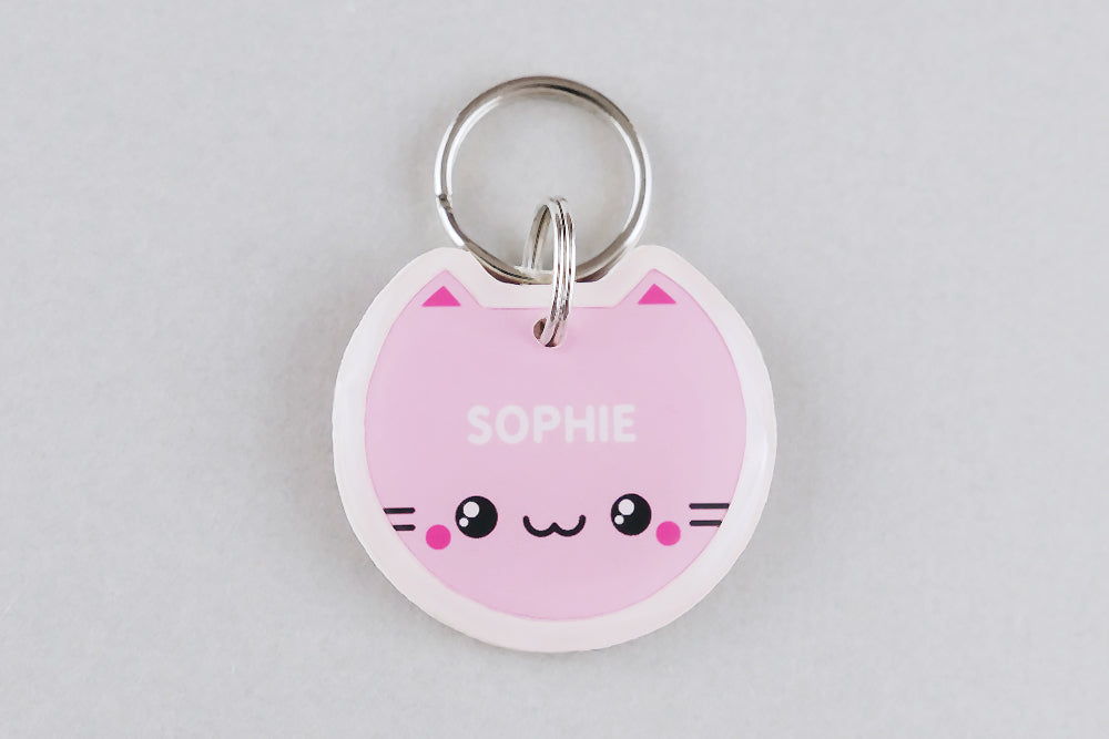 Kawaii Cat ID Tag - Pixsqueaks