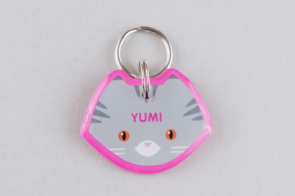 Maine Coon Cat ID Tag - Pixsqueaks