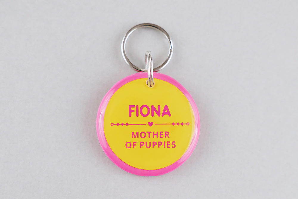 Mother of Puppies Dog ID Tag - Pixsqueaks