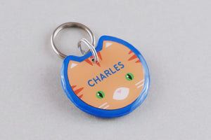 Orange Tabby Cat ID Tag - Pixsqueaks
