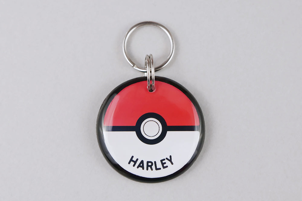 Pokeball Pet ID Tag - Pixsqueaks