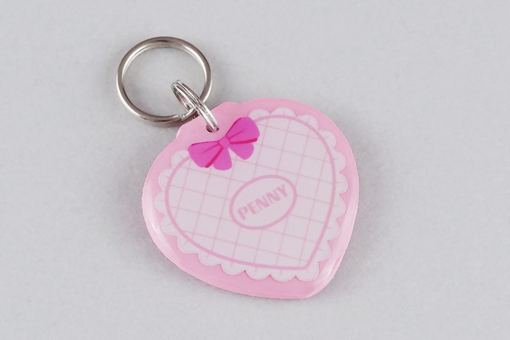 Quilted Heart Pet ID Tag - Pixsqueaks