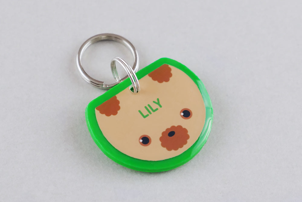 Poodle Dog ID Tag - Pixsqueaks