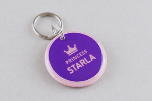 Princess Crown Pet ID Tag - Pixsqueaks