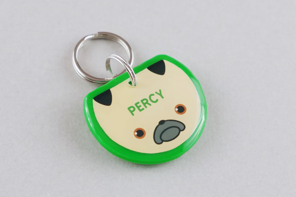 Pug Dog ID Tag - Pixsqueaks