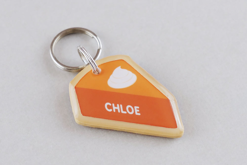 Pumpkin Pie Pet ID Tag - Pixsqueaks