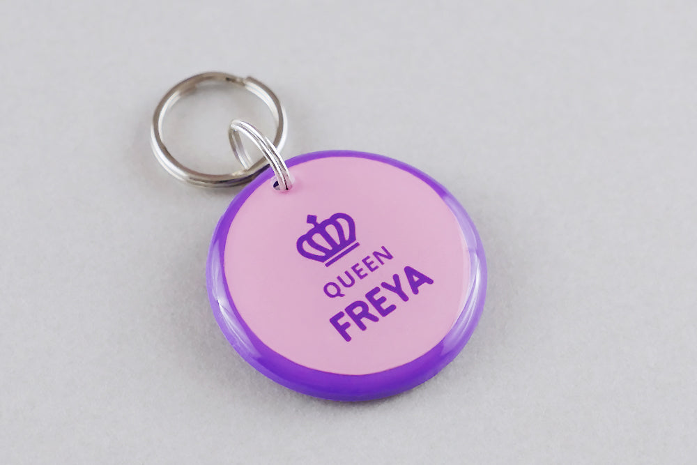 Queen Crown Pet ID Tag - Pixsqueaks
