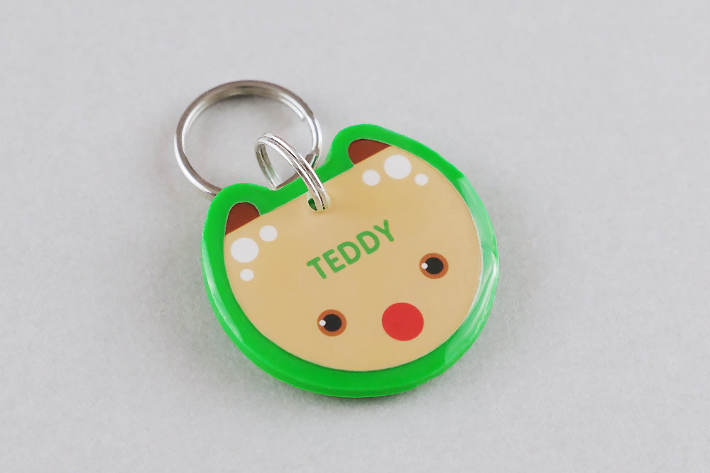 Reindeer Pet ID Tag - Pixsqueaks