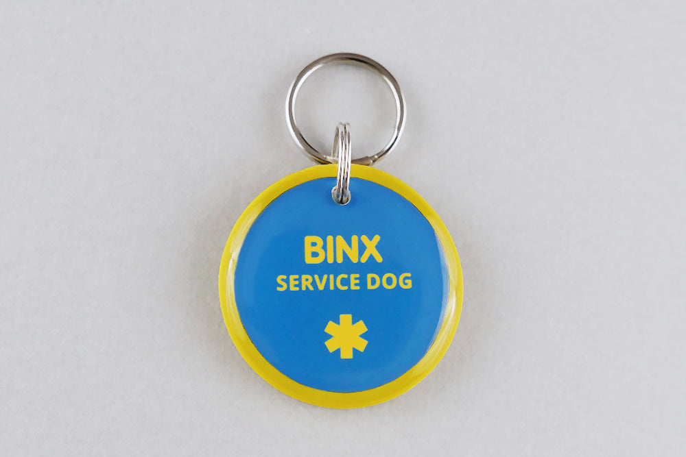 Service Dog ID Tag - Pixsqueaks