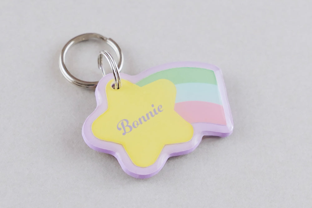 Shooting Star Pet ID Tag - Pixsqueaks