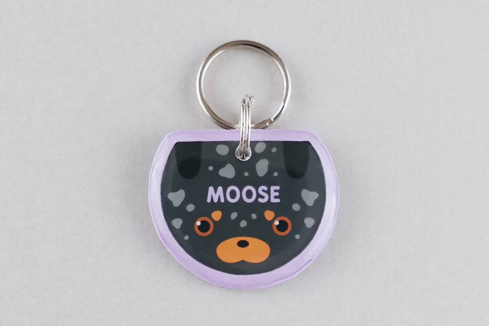 Speckled Dachshund Dog ID Tag - Pixsqueaks