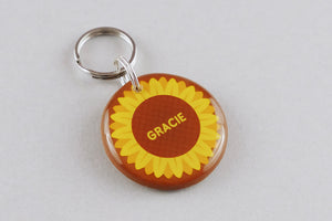 Sunflower Pet ID Tag - Pixsqueaks