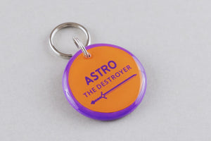 The Destroyer Pet ID Tag - Pixsqueaks