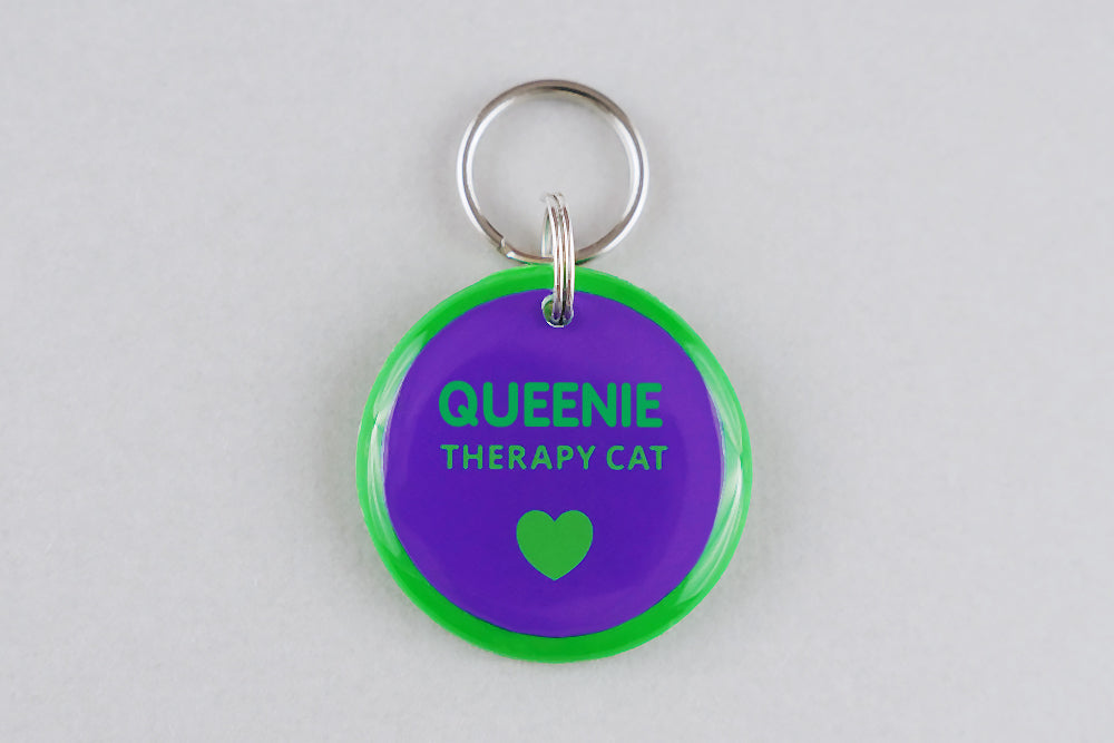 Therapy Cat ID Tag - Pixsqueaks