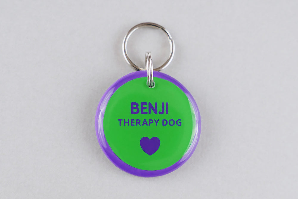 Therapy Dog ID Tag - Pixsqueaks