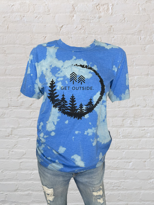 BLUE WAVE BLEACHED TEE
