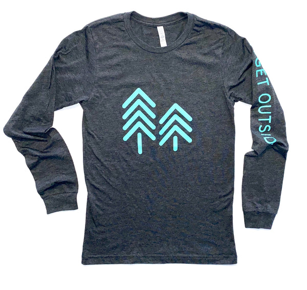 DENALI LONG SLEEVE LOGO TEE