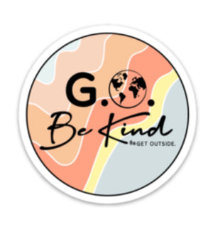 G.O. BE KIND STICKER
