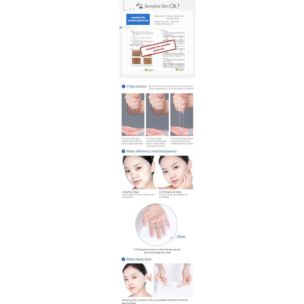 ETUDE HOUSE 0.2 Therapy Air Mask Hyaluronic Acid, Sheetmask, Etude House, Korean Skincare & Beauty South Africa - Korean Beauty South Africa Kbeauty Korean Skincare k beauty