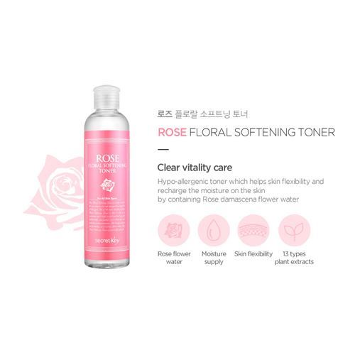 Secret Key Rose Floral Softening Toner - 248ml, Toner, SecretKey, Korean Skincare & Beauty South Africa - Korean Beauty South Africa Kbeauty Korean Skincare k beauty