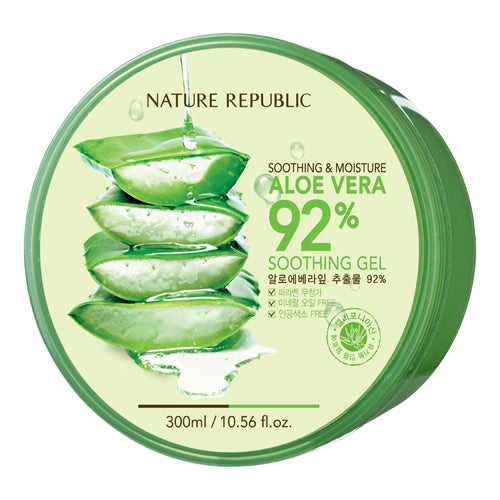 Nature Republic Soothing & Moisture Aloe Vera 92% Soothing Gel 300 ml, Moisturizer, Nature Republic, Korean Beauty South Africa - Korean Beauty South Africa Kbeauty Korean Skincare k beauty