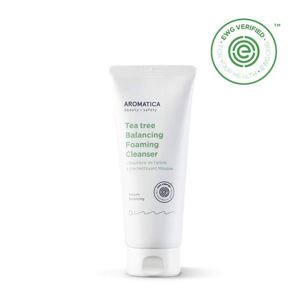 Aromatica Tea Tree Balancing Foaming Cleanser 6.35Oz / 180G, Vegan, Ewg Verified