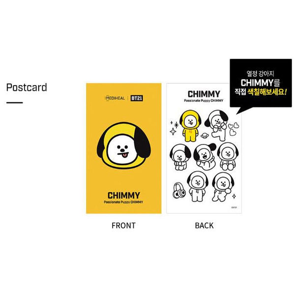 BTS BT21 CHIMMY FACE POINT MASK 4pcs Pack, Mask, Mediheal, Korean Skincare & Beauty South Africa - Korean Beauty South Africa Kbeauty Korean Skincare k beauty