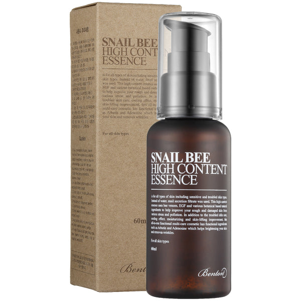 Benton SNAIL BEE HIGH CONTENT ESSENCE 60ml, Essence, BENTON, Korean Skincare & Beauty South Africa - Korean Beauty South Africa Kbeauty Korean Skincare k beauty