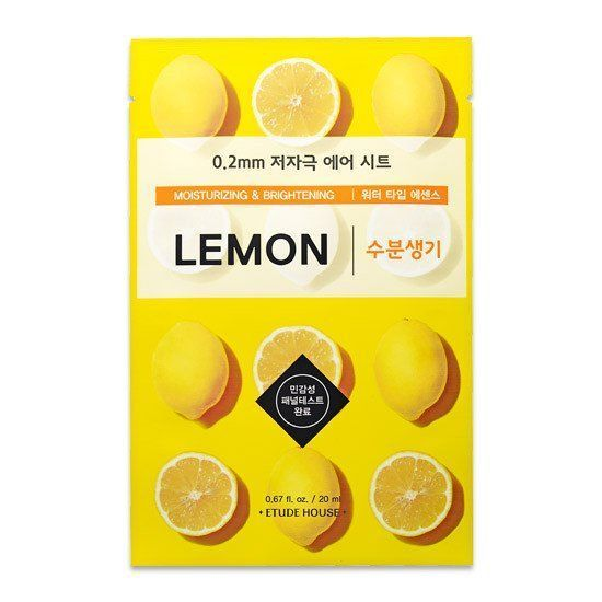 Etude House 0.2 Therapy Air Mask Lemom, Sheetmask, Etude House, Korean Beauty South Africa - Korean Beauty South Africa Kbeauty Korean Skincare k beauty