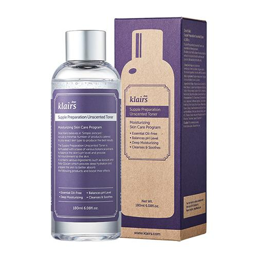Klairs Supple Preparation Unscented Toner - 180ml, Toner, Klairs, Korean Beauty South Africa - Korean Beauty South Africa Kbeauty Korean Skincare k beauty