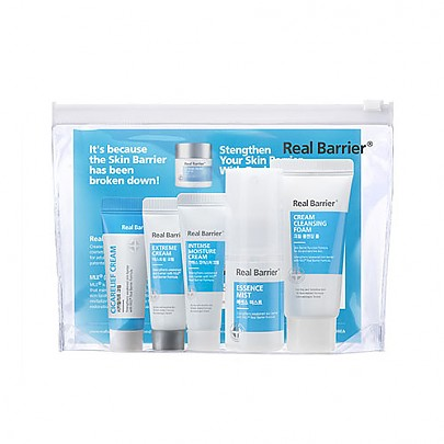 Real Barrier kit (Cream Cleansing Foam 30g + Essence Mist 30ml + Intense Moisture Cream 10ml +Extreme Cream 10ml + Cicarelief Cream 10g, Gift Set, Real Barrier, Korean Skincare & Beauty South Africa - Korean Beauty South Africa Kbeauty Korean Skincare k beauty