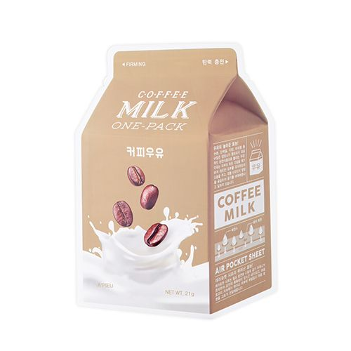 Apieu Coffee Milk One Pack Sheetmask - Hydrating Anti-Aging, Sheetmask, Apieu, Korean Skincare & Beauty South Africa - Korean Beauty South Africa Kbeauty Korean Skincare k beauty