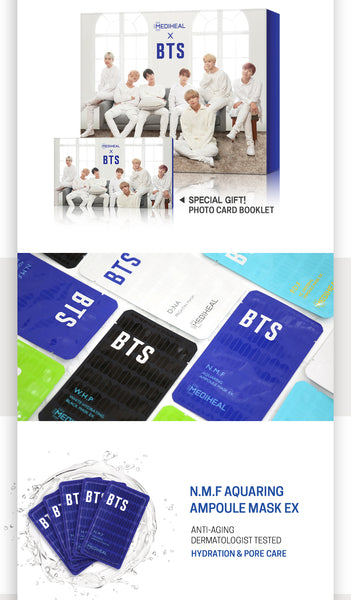 MEDIHEAL X BTS Mask Pack Set - Hydrating Moisture, Sheetmask, Mediheal, Korean Beauty South Africa - Korean Beauty South Africa Kbeauty Korean Skincare k beauty