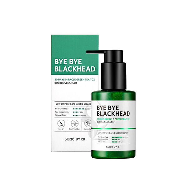 SOMEBYMI BYE BYE BLACKHEAD 30 DAYS MILACLE GREEN TEA TOX BUBBLE CLEANSER 120g, Cleanser, SOMEBYMI, Korean Skincare & Beauty South Africa - Korean Beauty South Africa Kbeauty Korean Skincare k beauty