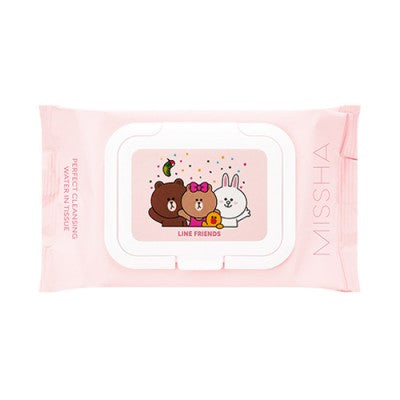 MISSHA Super Aqua Cleansing Water In Tissue (Line Friends) 30 sheets, Cleanser, Missha, Korean Beauty South Africa - Korean Beauty South Africa Kbeauty Korean Skincare k beauty
