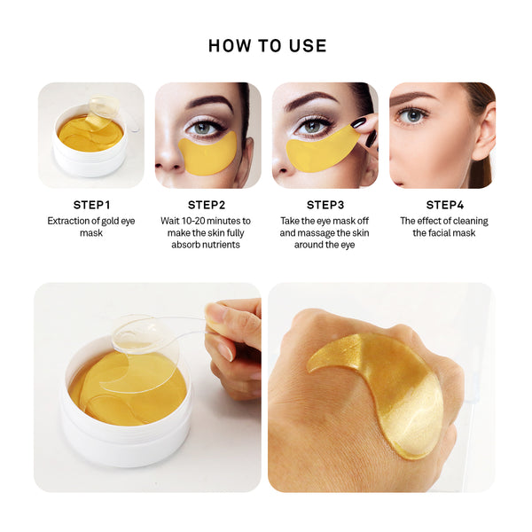 Petitfee Hydrogel Eye Patch - 1pack (60pcs) #Gold, Eye Cream, Petitfee, Korean Beauty South Africa - Korean Beauty South Africa Kbeauty Korean Skincare k beauty