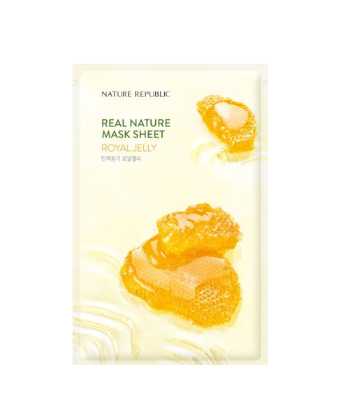 Nature Republic Real Nature Sheetmask Royal Jelly, Sheetmask, Nature Republic, Korean Skincare & Beauty South Africa - Korean Beauty South Africa Kbeauty Korean Skincare k beauty